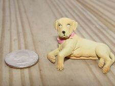 YELLOW LAB DOG LAYING G SCALE 1/18TH OR 1/24TH SCALE DIORAMA ACCESSORY!