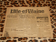 L'Ille et Vilaine, journal hebdomadaire - n° 1651, 31/10/1943