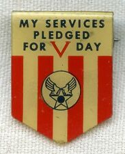 "WWII Homefront Army Air Forces ""V"" Day Pin by Whitehead & Hoag"