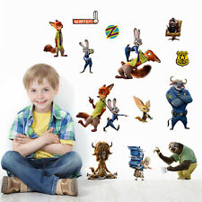 Zootopia Cartoon Fox Nick Removable Wall Stickers Decals Baby Kids Decor Mural