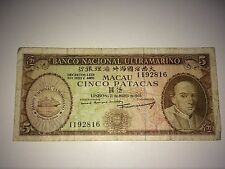 1968 Banco Nacional Ultramarino 5 note