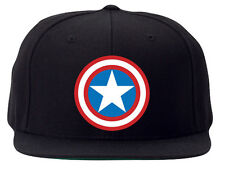 New Embroidered Personalised Captain America Snapback Rapper Baseball Cap Hat