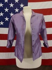 Talbots Kids Jacket Full Button Front Lavender Girls Size 14 NWT $38
