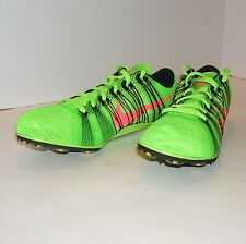 Nike Zoom Victory 2 Track Running Shoes 555365 306 Size 12.5 w Spikes & Key