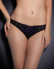 AGENT PROVOCATEUR RUDY THONG BLACK/PURPLE SIZE LARGE / 4 / 12-14 BNWT RRP £95