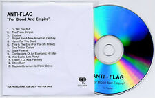 ANTI-FLAG For Blood And Empire 2006 UK 13-track promo test CD title sleeve