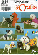 OOP Simplicity Dog Rain Coats and Costumes Pattern 9884 Size S-M