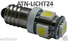 1x 6V E10 Gewinde LED SMD Schraubsockel Lampe Weiß Lichterketten Dekoration