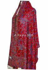 Gorgeous  Pashmina &  Silk Shawl/Wrap--Red.Blue#A