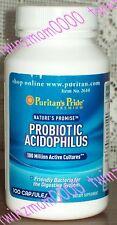Puritan's Pride Probiotic Acidophilus 100 Million Active Cultures 100 CAPSULES