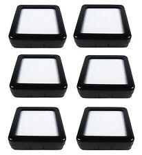 6 PCS OF GLASS TOP JEWELRY GEM DISPLAY BOX CLIP LOCK BLACK HARD PLASTIC 5.3CM