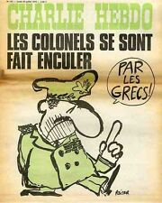 """CHARLIE HEBDO N°193 du 29/7/1974"" REISER : LES COLONELS SE SONT FAIT ENCULER"