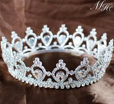 Luxurious Queen Princess Crown Bridal Tiara Diadem Rhinestone Pageant Party Prom