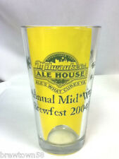 Milwaukee Ale House beer glass bar glasses 1 2004 Annual Midwinter Brewfest FS5