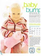 BUMPY STRIPES knitting pattern from magazine - babies hooded cardigan