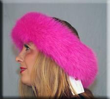 New Fuchsia Hot Pink Fox Fur Headband - Efurs4less