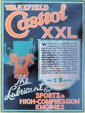 1920/30s Castrol Xxl Aceite Auto Moto Letrero De Metal