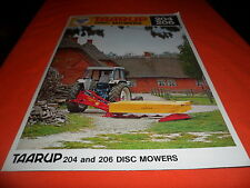 (Drawer 9) Taarup Disc Mower 204 206 Farm Equipment Brochure Specifications