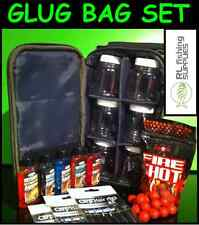 Glug Holdall Bag 6 Glug Pots + 18 Barbless Hair Rigs + 5 Attractor Dip + Boilies