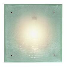 Plafoniera luce bagno stile classico country verde decapè 32 x 10  cm