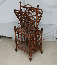 Fancy Victorian Wicker Magazine or Music Stand