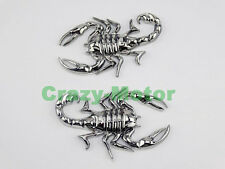 Motorcycle Chrome Metal 3D Scorpion Decal Sticker Tank Emblem Badge For Yamaha