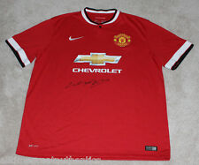 WAYNE ROONEY SIGNED AUTHENTIC 2014-2015 MANCHESTER UNITED JERSEY w/COA ENGLAND