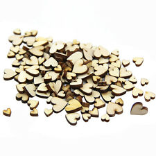 50 Pcs Lot Artcuts Mini Mixed Wooden Hearts Embellishments for Craft Decor DIY