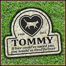 "Pet Memorial Grave Marker 11"" x 12"" Personalized Cat Headstone Gravestone"