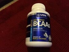 USN Branched Chain Amino Acids Athletic BCAA's Muscle Growth Recovery 120 caps