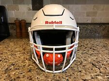 Riddell Revo Revolution SPEED FLEX Football Helmet White Facemask Adult Small
