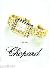 PUBLICITE ADVERTISING 056  2001   la montre Happy Sport Chopard