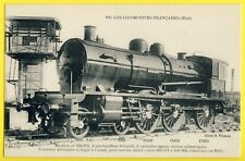 cpa TRAIN FRENCH LOCOMOTIVE Resau ETAT de 1912 RAILWAY Station control tower
