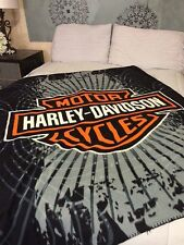 Harley Davidson Spider Web  fleece blanket  throw NEW
