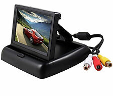Foldable 4.3 Inch Color LCD TFT Rearview Monitor screen for Car Backup Camera