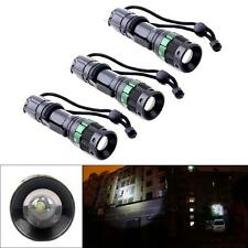 3 pzas 3000 Lumen Con Zoom CREE XM-L Q5 linterna flash LED Zoom Lámpara