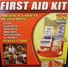 Emergency First Aid Kit 183 PIECE Unit Gauze Bandage Splint Antiseptic Cold Pack