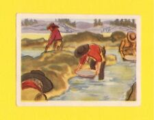 Sitting Bull Vintage Card from Belgium Gold Rush Panning for Gold
