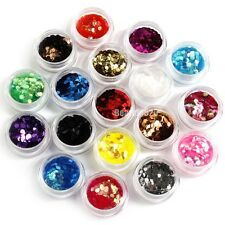 Nail Art 18 Colors Big Hexagon Glitter Deco Kit Acrylic UV Deco Decoration New