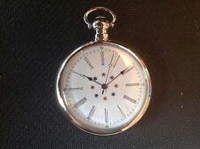 POCKET WATCH NO.23 SILVER COLOURED  FOB, BLUE AND GOLD STARS  COLLECTABLE