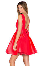 Kate Spade Open Back Silk Mini Dress Bow Detail Geranium Red sz 4; NWT $428