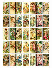 35 MINI FAIRIES FLORAL CHILDREN (15) SCRAPBOOK EMBELLISHMENTS HANG/GIFT TAGS