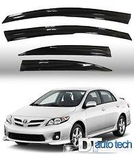 Smoke 09-13 Toyota Corolla Sedan 4D Window Visor Vent Shade Rain/Sun/Wind Guard