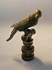 Lamp Finial-PARROT-Aged Brass Finish, Highly detailed metal casting