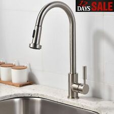 VCCUCINE: Stainless Steel Brushed Nickel Pull Out Sprayer Single Handle Faucet
