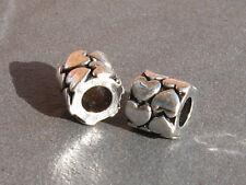 Pair of Tibetan Silver small hole hair braid dread dreadlock beads 4.5mm hole