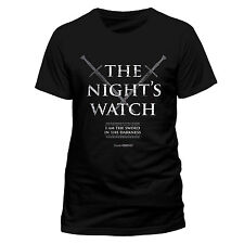 GAME OF THRONES - TRONO DI SPADE. THE NIGHT'S WATCH - T-SHIRT UNISEX M