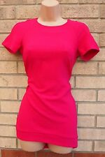 SEXY TUBE FORMAL ELEGANT PINK FUCHSIA MINI BODYCON PENCIL PARTY DRESS XS 6