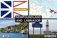 SOUVENIR FRIDGE MAGNET of PROVINCE OF NEWFOUNDLAND CANADA