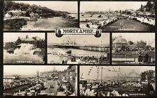 Morecambe Multi View RP old pc used 1924 A J Evans